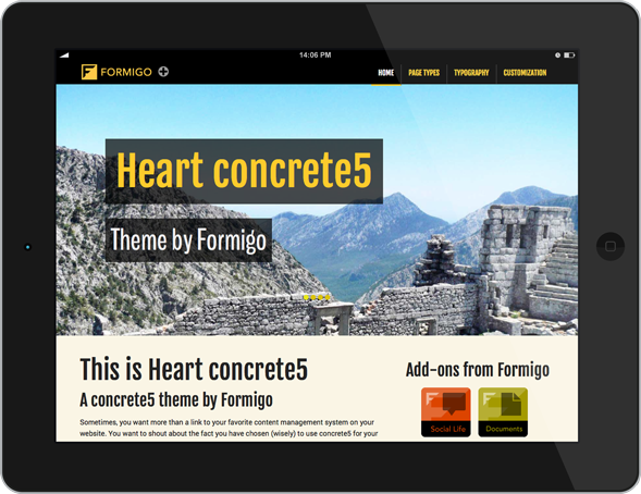 Heart concrete5 - Tablet